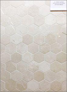 Sandy Beige Marble Polished Hexagon Mosaic Backsplash Tiles Tile Bathroom Floor