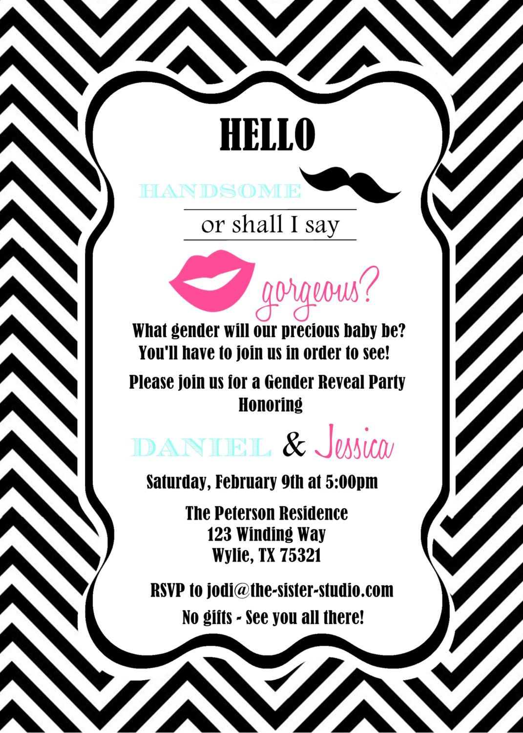 Gender Reveal- invite wording | Baby- gender Reveal party ...