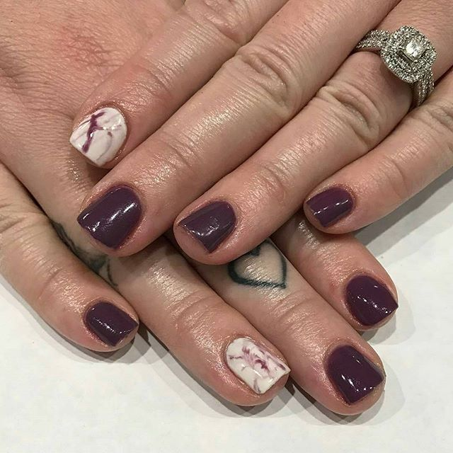 Plum+Marble by Hollie @hkgrahamnails - Because marble is lyfe ...