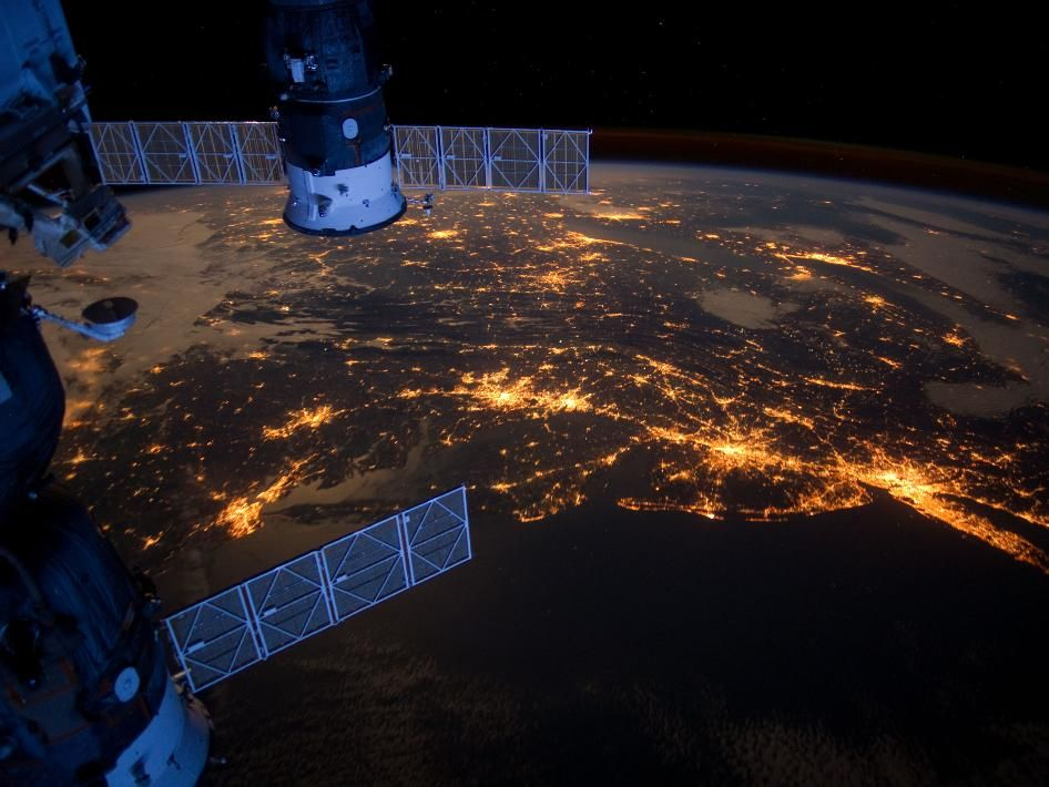 From NASA: The Eastern Seaboard at night