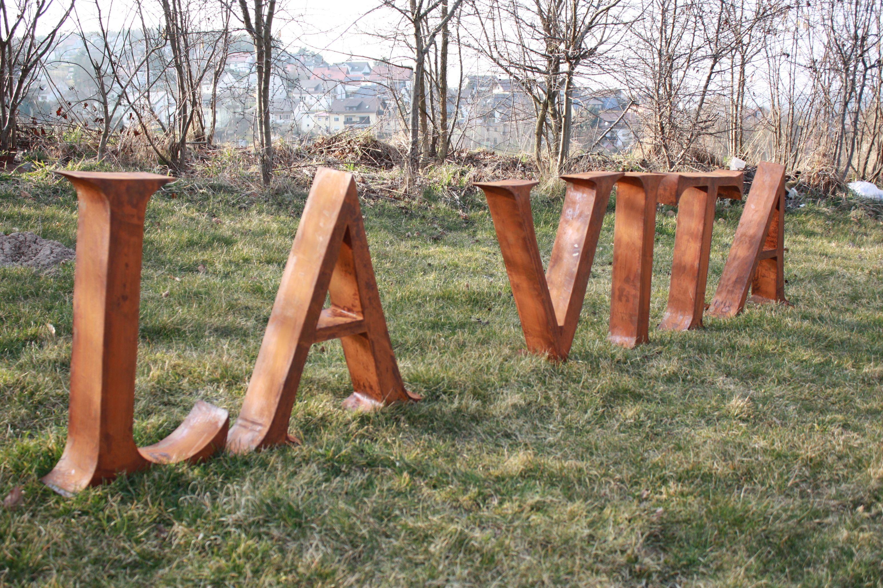 3d Buchstaben Aus Cortenstahl Rostig Metallbuchstaben Cortenstahl Edelrost