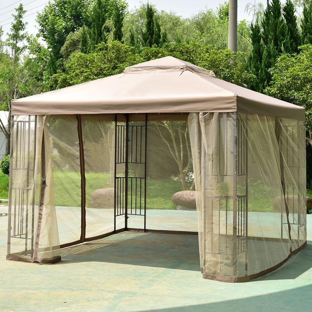 Outdoor 10 X10 Gazebo Canopy Shelter Awning Tent Patio Garden New In 2020 Gazebo Canopy Gazebo Outdoor Shelters