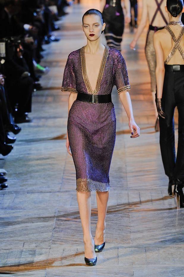 V Neck Dress Fall/winter Saint Laurent psUM0f4z6