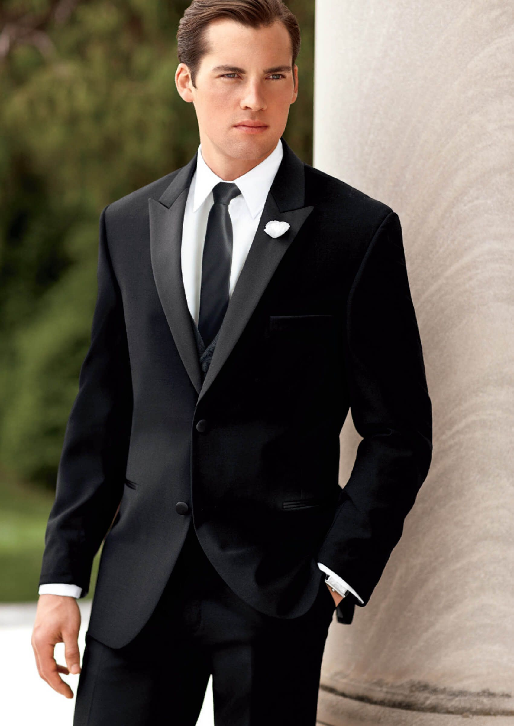 Black Super 100\'s Two Button Peak by Ralph-Lauren - Tuxedos | DHGATE ...