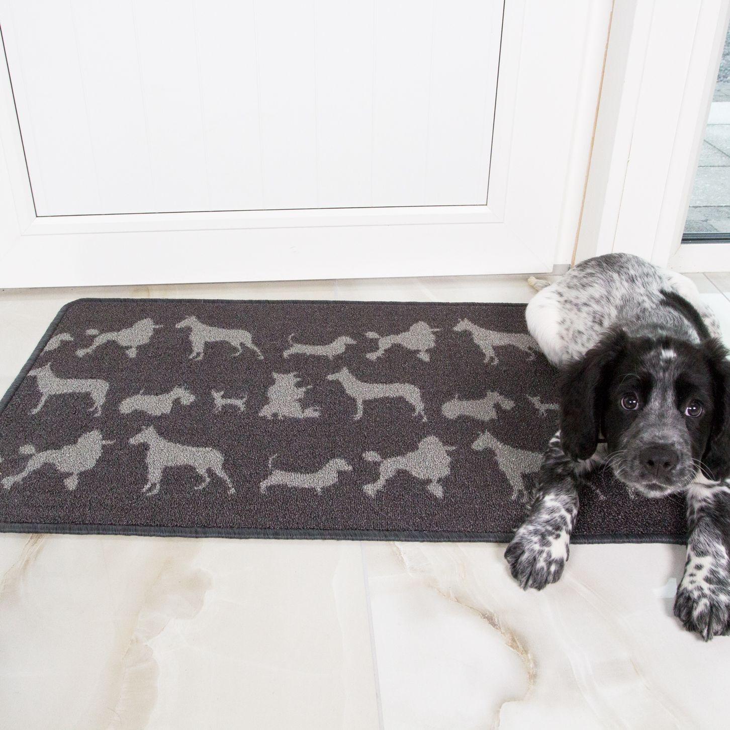 Canine Print Washable Non Slip Kitchen Mats Luna 66x110 Washable Kitchen Mat Doorway Mat
