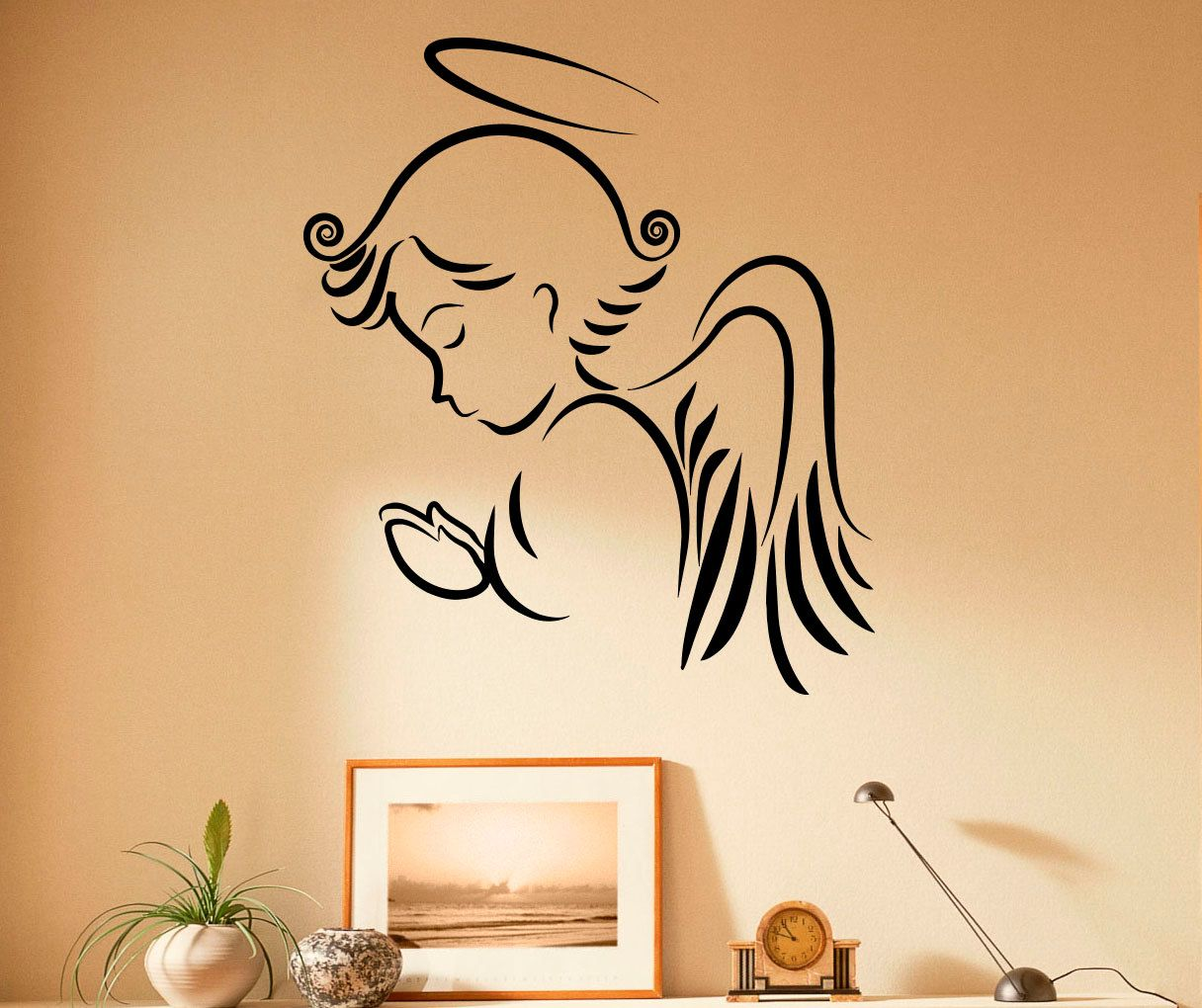 Angel stencils for walls gallery home wall decoration ideas angel stencils for walls images home wall decoration ideas popular items for angel wall decal on amipublicfo Image collections