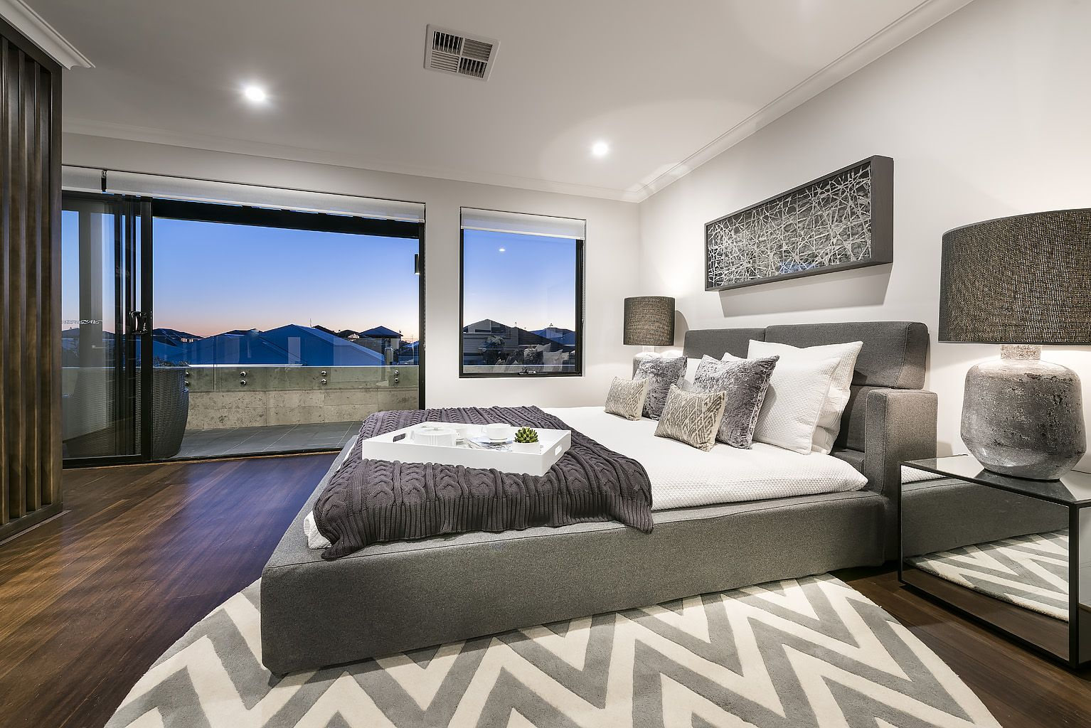 Upstairs Master Suite Retreat With Balcony And Exceptional Sunset