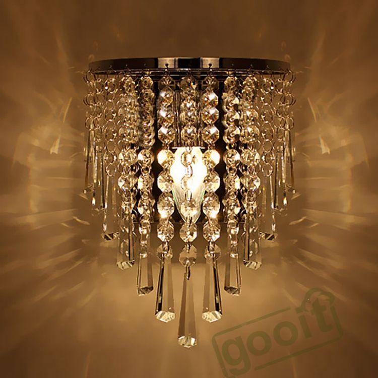 Modern Crystal Chandelier Wall Light Lighting Fixture 220V E14 LED ...