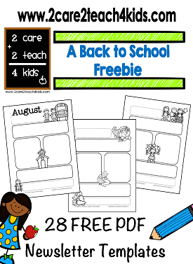 Free Printable Newsletter Templates Featuring Graphics From