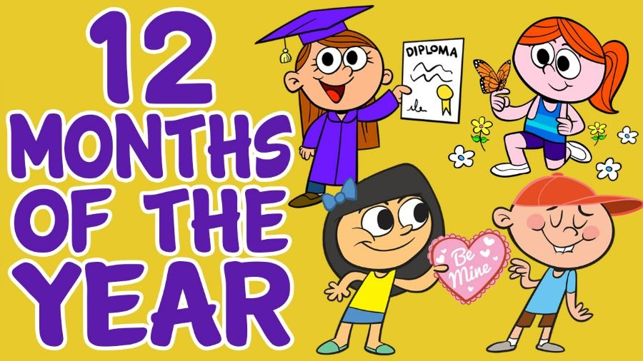 Months of the year 12 months of the year song with