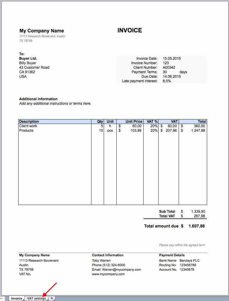 Free Excel Invoice Template Inspirational Free Invoice Excel Template Invoice Template Invoice Template Word Excel Templates