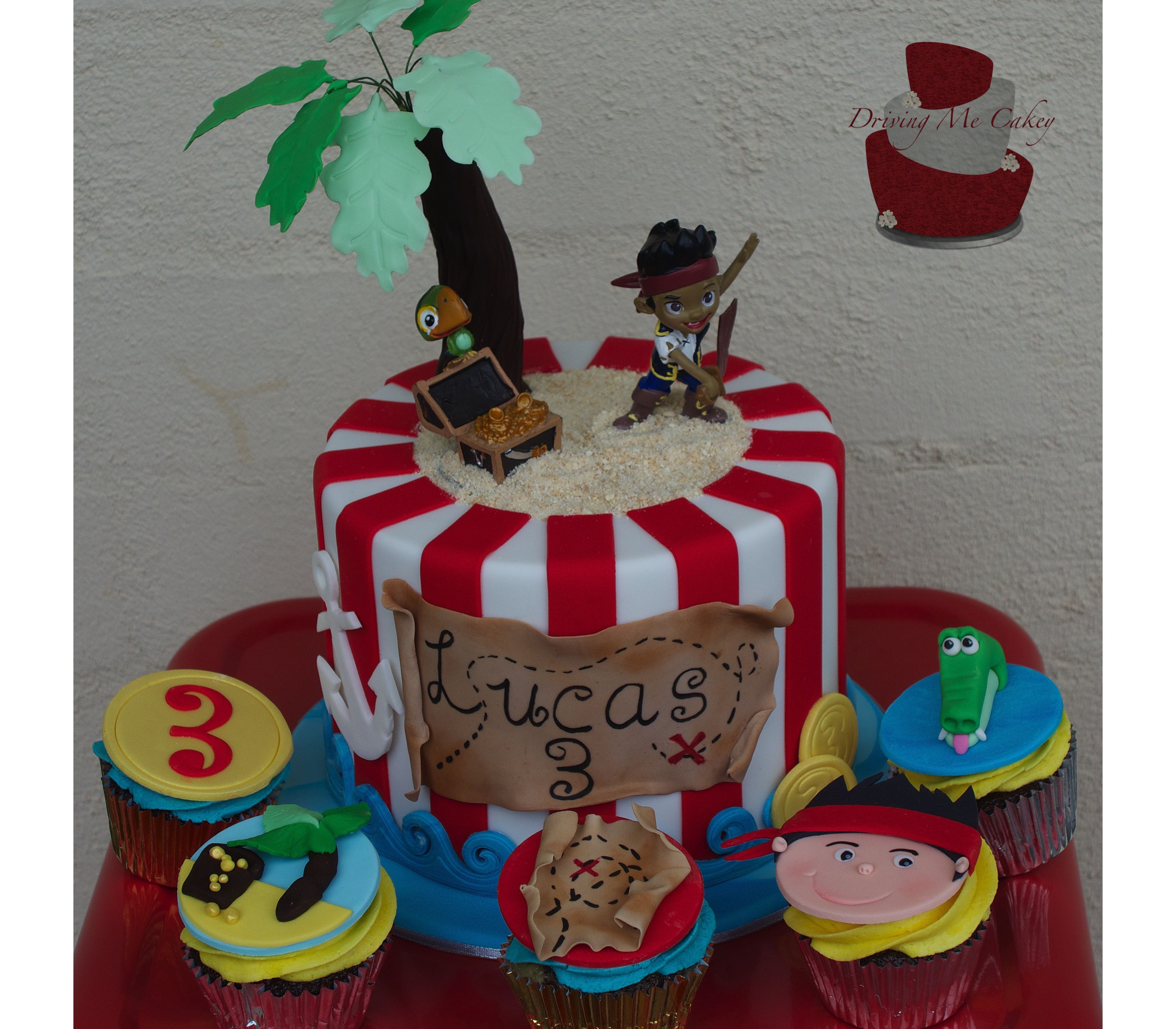 Jake The Pirate Cake And Cupcakes Cupcake Toppers Coins
