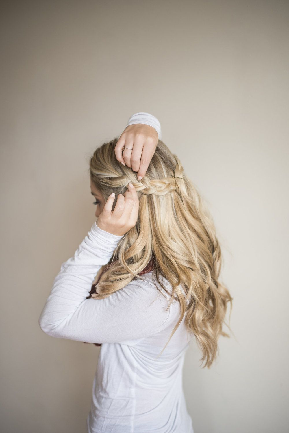 How To Easy Half Up Braid With Extensions Beauty Hair