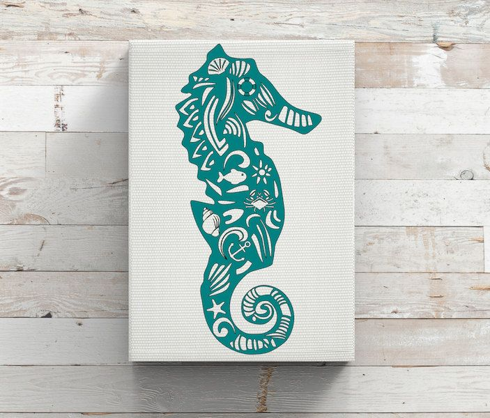 Paisley SeahorseZenSea ShellVinyl DecalOcean Beach LifeDIY - Beach vinyl decals