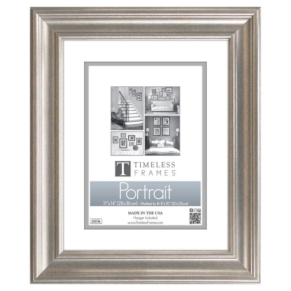 Timeless Frames Lauren 1 Opening 11 In X 14 In Silver Matted Picture Frame 51035 Frames On Wall Portrait Wall Picture Frames