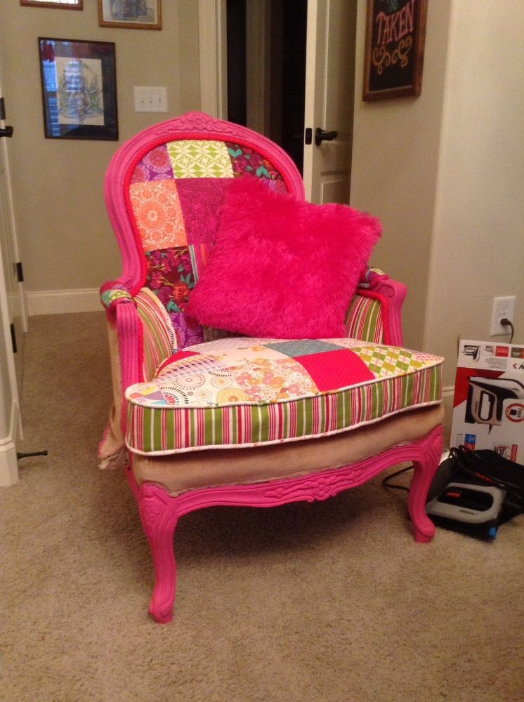 DIY Upholstery Chair.....First Time | Chair upholstery ...