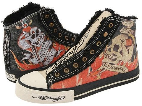 61ac71b2544 Ed hardy converse | Rock | Shoes, Shoe boots, Creative shoes