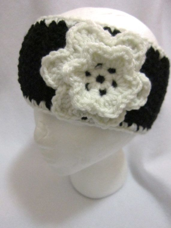 Check out this item in my Etsy shop https://www.etsy.com/listing/213794217/black-and-eggshell-crochet-headwarmer