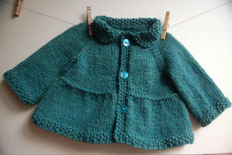2cf00161d Tiered Baby Coat and Jacket knitting pattern by Lisa Chemery ...