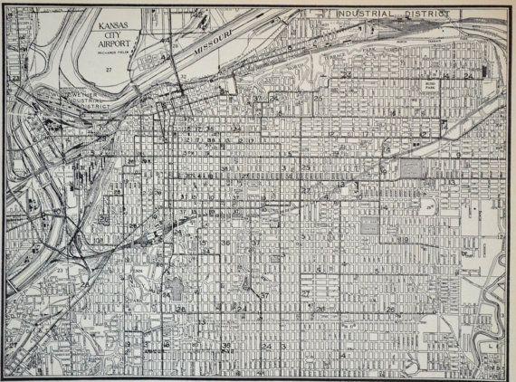 Kansas city 1940s map antique kansas city atlas missouri map kansas city 1940s map antique kansas city atlas missouri map world war ii gumiabroncs Image collections