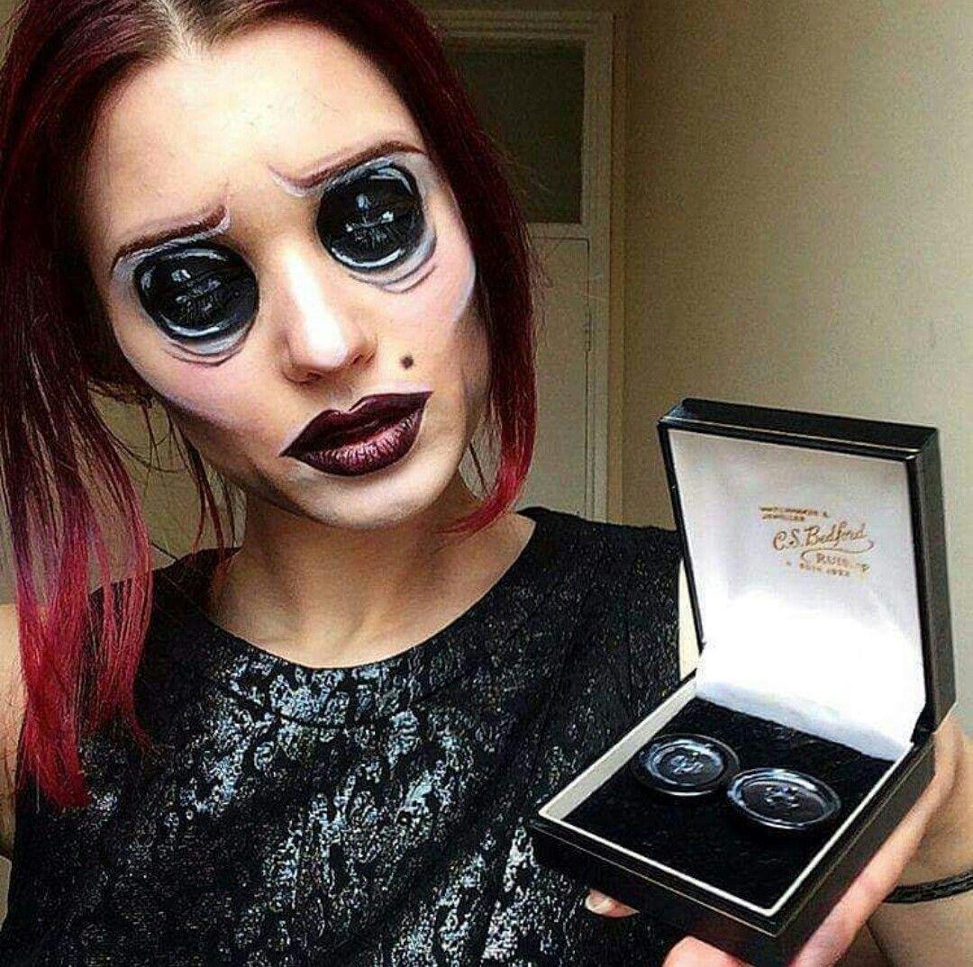 Your Other Mother Coraline Creepy Halloween Makeup Horror Makeup Movie Character Makeup