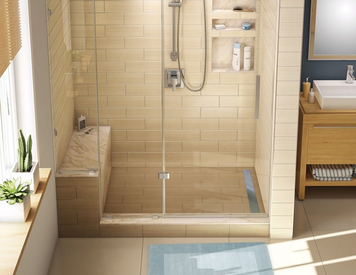 redi trench shower pan and bench 30 x