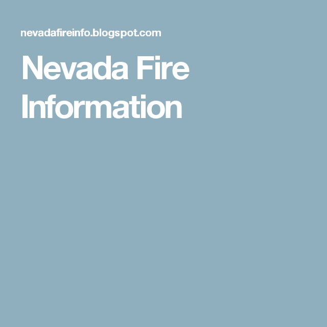 Nevada Fire Information