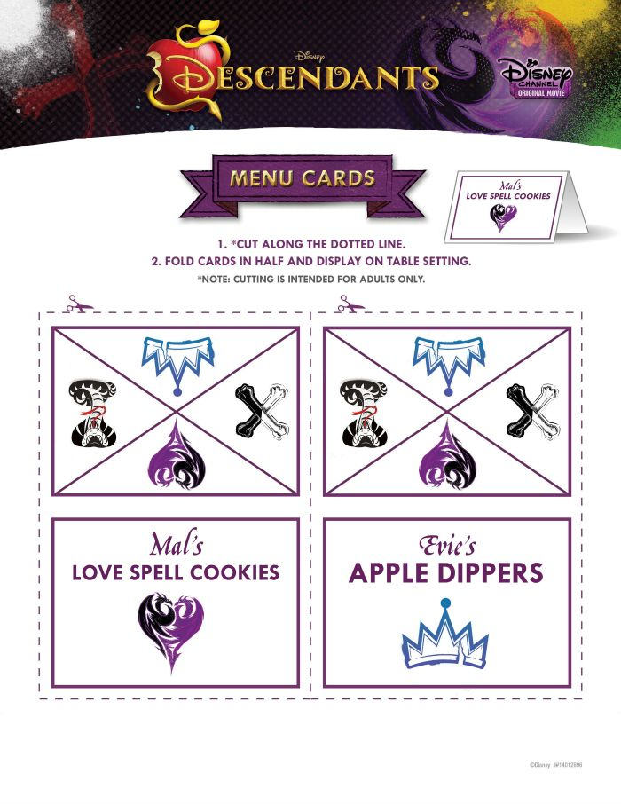 Disney Descendants Party Ideas Maleficent Party Disney