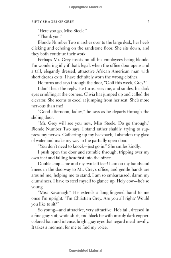 Chapter 1 page 7 - 50 shades of grey by E L James | Shades
