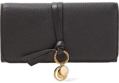 9284d343422 Chloé - Textured-leather Continental Wallet - Black  chloe  ShopStyle   MyShopStyle click