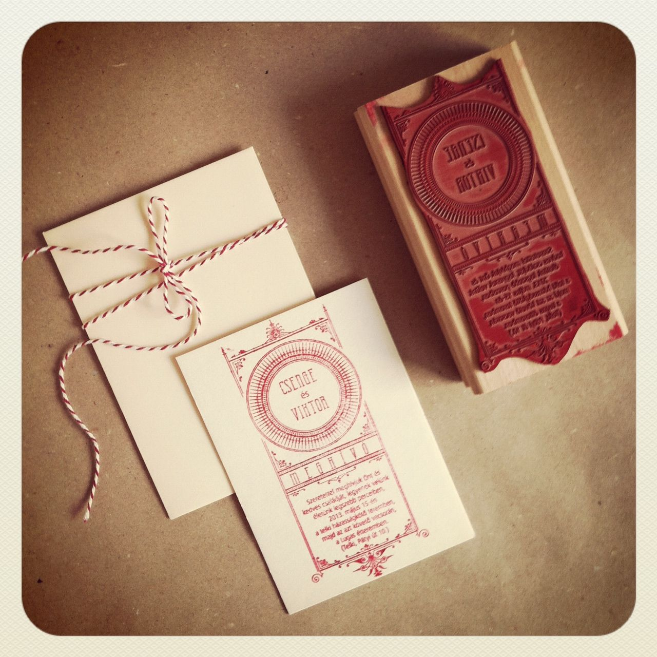 Wedding invitation card stamp and print | My works - stamps, wedding ...