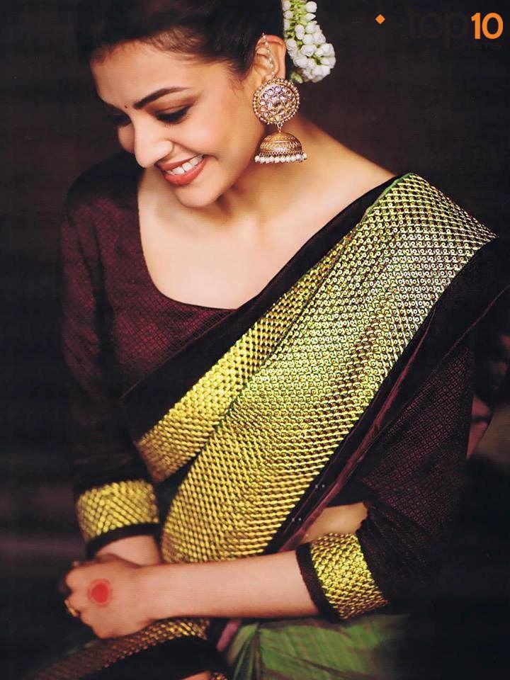 Actress Kajal Agarwal Photos Saree Photoshoot Kajal Agarwal Saree Saree Poses