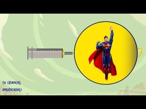 Aprendendo Cores com Injeções Homem Aranha, Batman, Homem de Ferro e Mul...