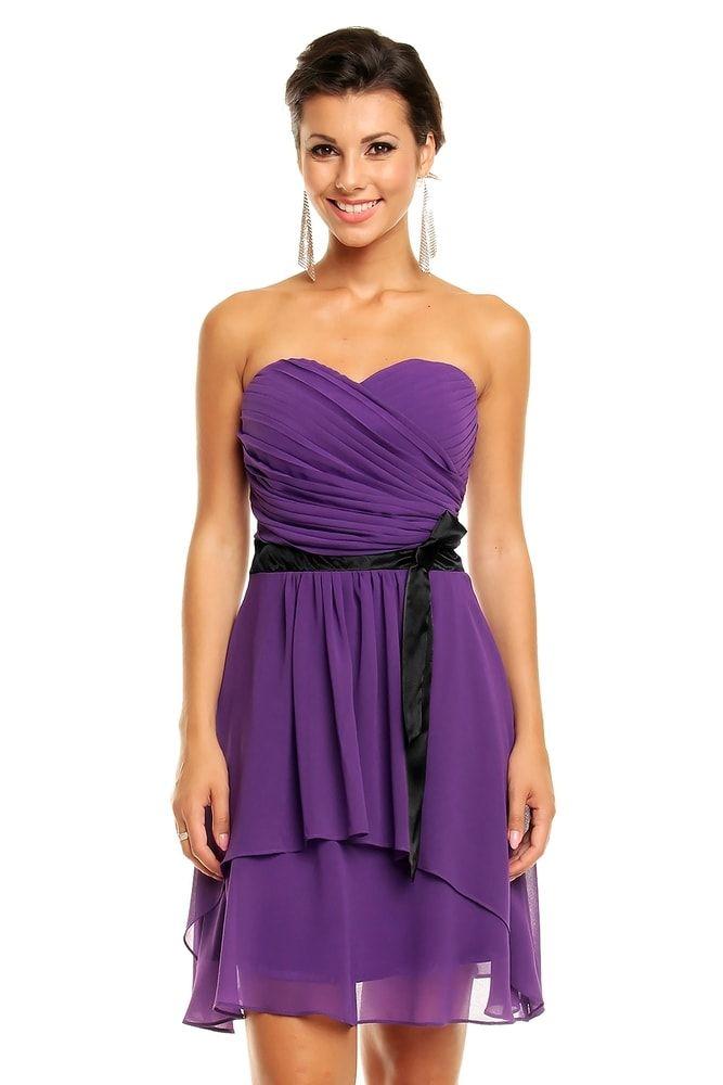 82dee6f0c Společenské šaty fialové | oblečeni | Šaty, Společenské šaty ...