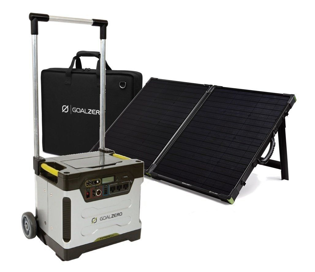 Amazon Com Goal Zero Yeti 1250 With Boulder 100 Watt Briefcase Solar Panel Kit Patio Lawn Garden Solar Heating