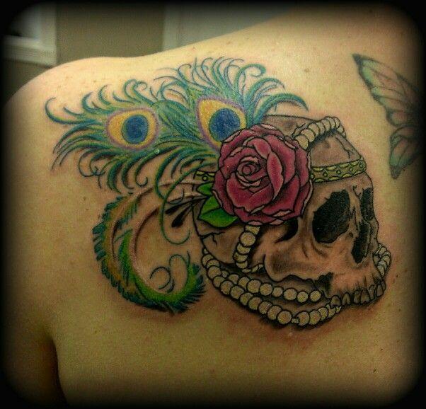 Custom skull with flapper... #skull #tattoo #fusioninks