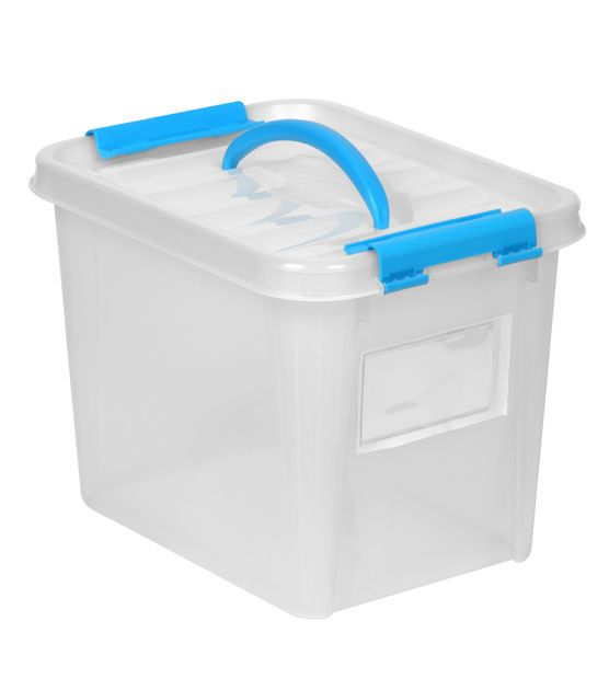 Snapware Smart Store 12 X 9 Tote With Pink Handles And Lid Joann Snapware Smart Storage Plastic Storage Units
