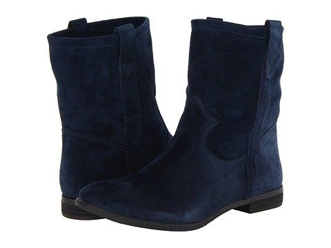 Ankle Boots or Tall Boots? Short Navy Blue Suede Boots