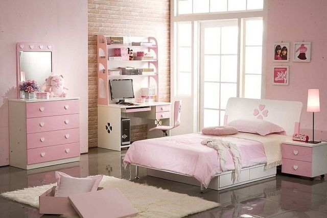 kinderzimmer m dchen rosa wei m bel set ideen rund ums. Black Bedroom Furniture Sets. Home Design Ideas