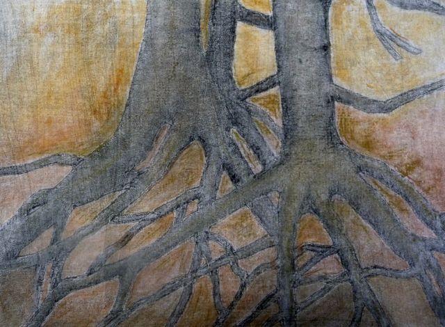 Hand Colored Monoprint Ann Laborie Printmaking