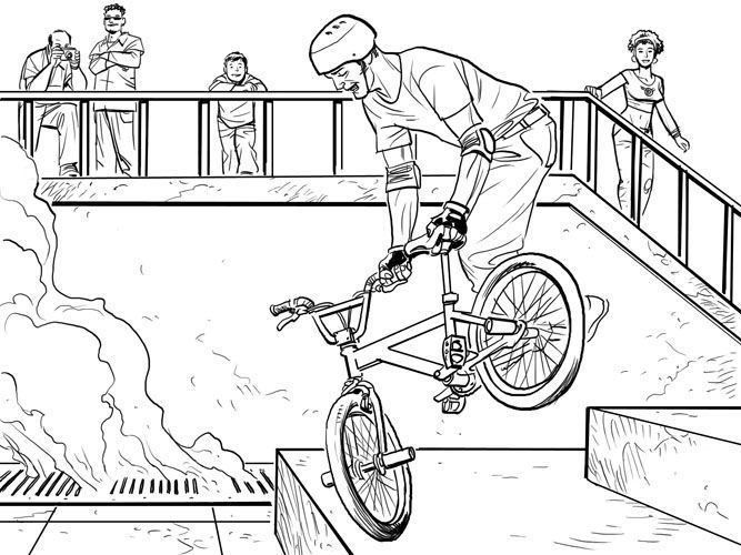 Bmx Coloring Pages Coloring Panda Coloriage To Color Couleur