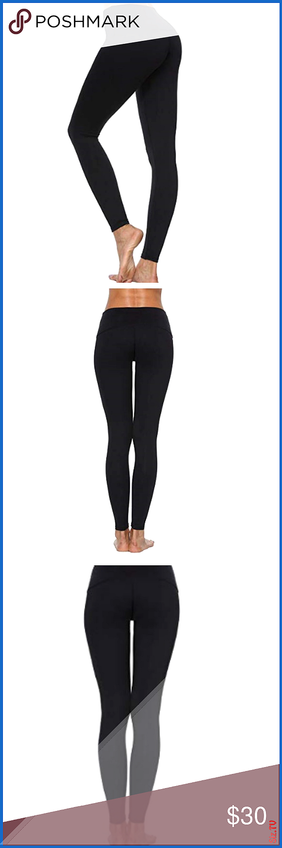 Tummy Control Workout Yoga Pants  Leggings Stretch 038 Non See-through Fabric Perfect for yoga exerc...