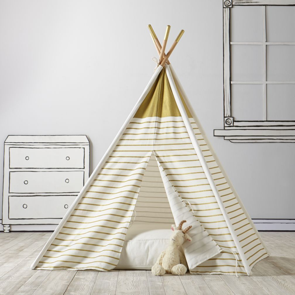 A Teepee to Call Your Own (Gold Metallic). Land Of NodThe ... & A Teepee to Call Your Own (Gold Metallic) | Playrooms Play houses ...