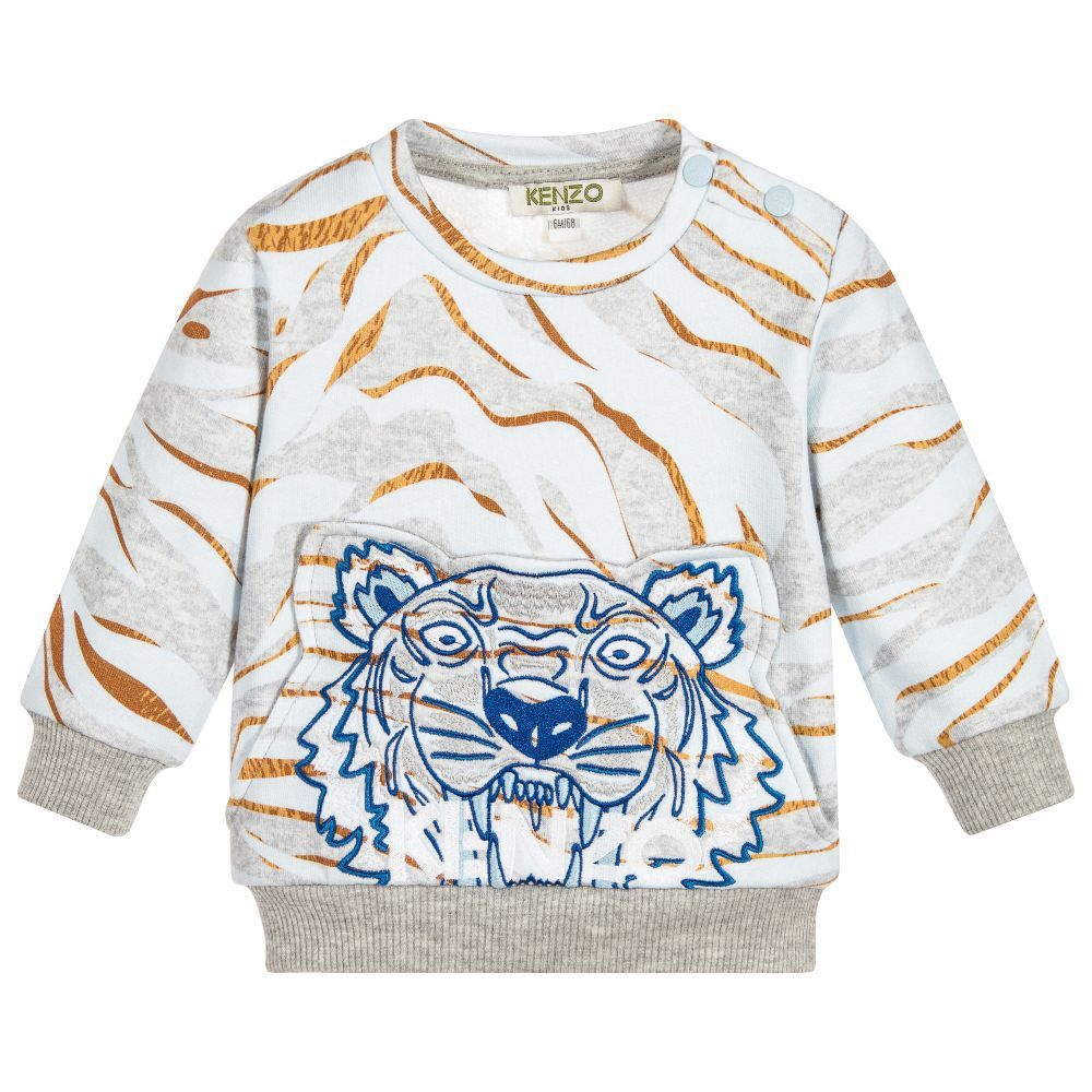 7c01a7444386 Kenzo Kids - Boys Grey Tiger Sweatshirt