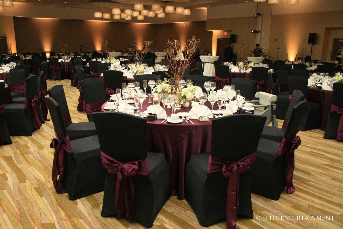 Andrea Brian 12 4 10 I Hotel Black Wedding Themes Burgundy