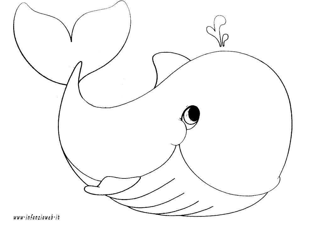 Risultati Immagini Per Disegno Balena Da Colorare Idee X La Scuola