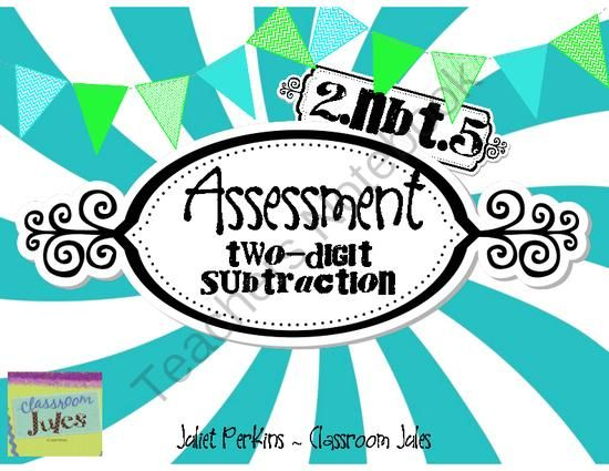 Assessment - 2.NBT.5 - Two Digit Subtraction from jnperkins on ...