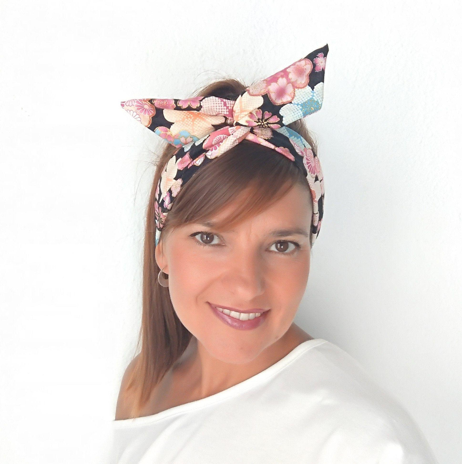FLORAL BENDY TWIST WIRE HEADWRAP FLOWER HEADBAND HAIR HEAD BAND WRAP SCARF WIRED