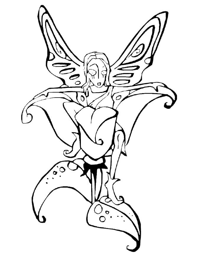 Fairies Coloring Pages (18) - Coloring Kids | Fairies | Pinterest
