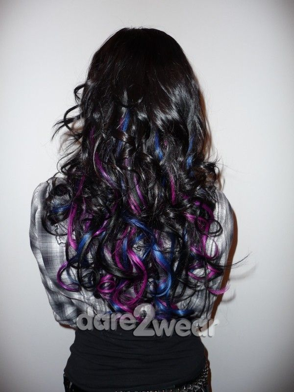 Awesome Dark Magenta Purple Hair Black And Purple Hair Extensions